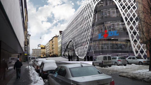 (Magyar) Bp II. Csalogány utcai üzletház