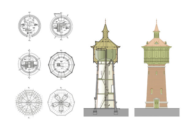 SZOLNOK MÁV HISTORIC WATER TOWER RECONSTRUCTION